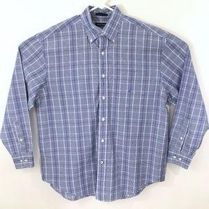 Nautica Mens Shirt L Button Down Long Sleeve EUC